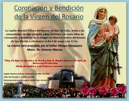 Coronación de Nuestra Sra del Rosario Mar de Cobo
