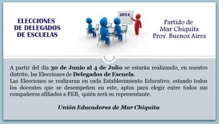 elecciones a delegados de escuela