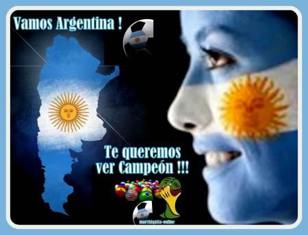 VAMOS ARGENTINA QUE TE QUIERO VER CAMPEON